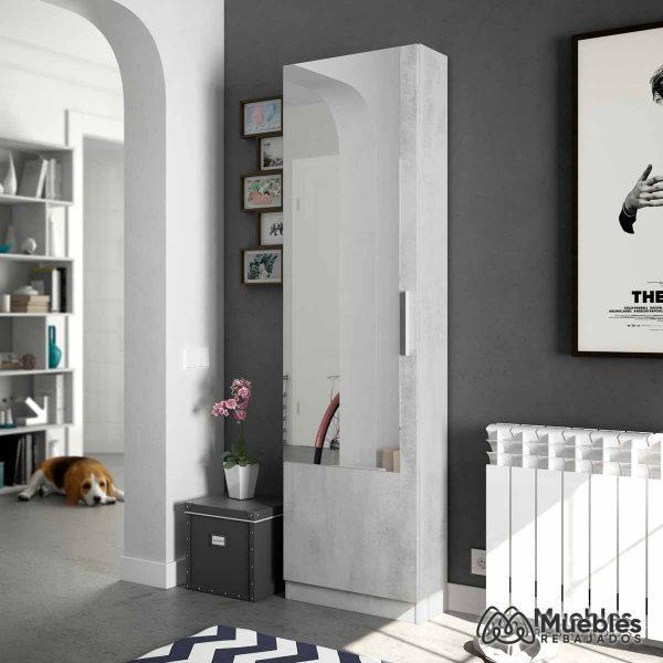 zapatero mueble con espejo 007864l
