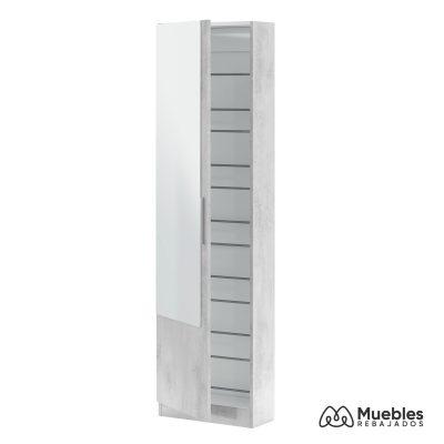 zapatero mueble con espejo alto 007864l